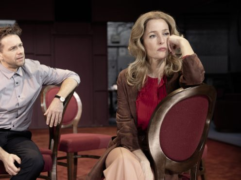 Gillian Anderson stars as Margo Channing (Jan Versweyveld/PA)