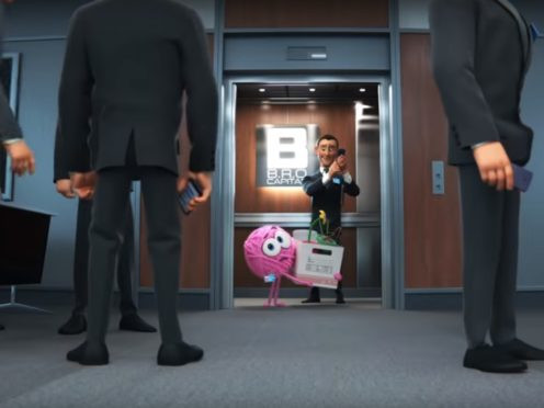 A screen grab from Pixar's latest SparkShort, Purl – (Disney.Pixar/YouTube)