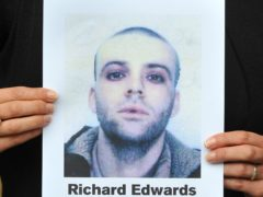 Missing poster for Richey Edwards (Clive Gee/PA)