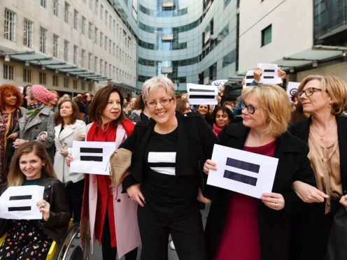 The Corporation still has a very long way to go over equal pay, BBC Women said (John Stillwell/PA)