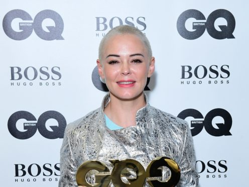 Rose McGowan hailed 'real change' in society in the wake of the #MeToo movement (Ian West/PA)