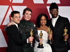 Rami Malek, Olivia Colman, Mahershala Ali and Regina King at the 2019 Academy Awards (PA)