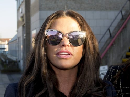 Katie Price outside Bexley Magistrates' Court (Rick Findler/PA)