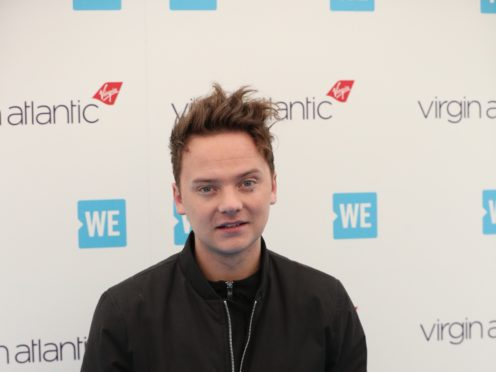 Conor Maynard arrives for the WE Day event (Jonathan Brady/PA)