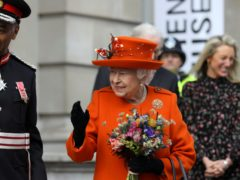 The Queen leaves the Science Museum after announcing its summer exhibition, Top Secret (Simon Dawson/PA)
