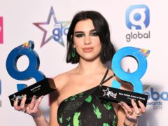 Dua Lipa won best female and best British artist or group at the Global Awards (Scott Garfitt/PA)