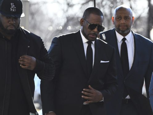R Kelly arrives at the Leighton Criminal Court for a hearing on Friday in Chicago (Matt Marton/AP)