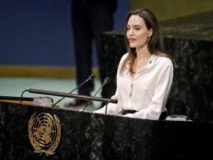 Angelina Jolie addresses a meeting on UN peacekeeping (AP Photo/Bebeto Matthews)