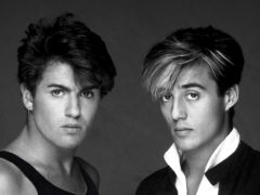 George Michael and Andrew Ridgeley in Wham! (Brian Aris)