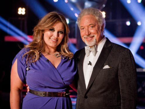 Previous The Voice winner Leanne Mitchell with Sir Tom Jones (Guy Levy/BBC)
