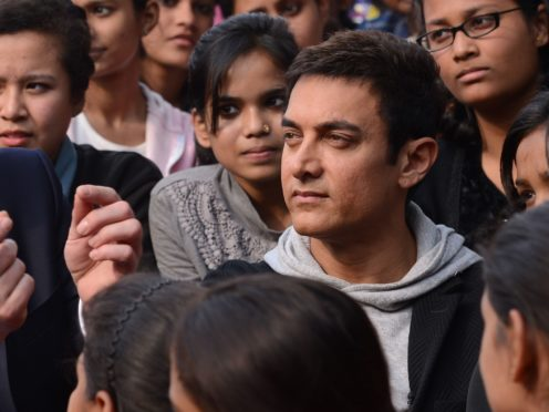 Indian film star Aamir Khan (right) in conversation with Nasreen Munni Kabir at the Belfast Film Festival. ASSOCIATION Photo. See PA story SHOWBIZ Khan. Picture date: Tuesday April 16, 2019. Photo credit should read: Liam McBurney/PA Wire