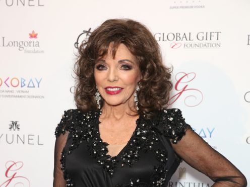 Dame Joan Collins and her husband fled their London flat after a fire broke out in their bathroom (Isabel Infantes/PA)