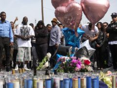 Fans of rapper Nipsey Hussle attended a vigil hours after he was killed (AP Photo/Ringo H.W. Chiu)