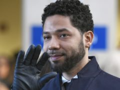 Actor Jussie Smollett before leaving Cook County Court after his charges were dropped (Paul Beaty/AP)