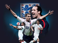 Michael Owen, David Seaman, Jamie Carragher and Glen Johnson have joined the England team for Soccer Aid (Soccer Aid/PA)