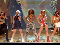 The Spice Girls perform at the Brit Awards in 1997 (Fiona Hanson/PA)