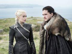 Emilia Clarke as Daenerys Targaryen and Kit Harington as Jon Snow in Game Of Thrones. (HBO)