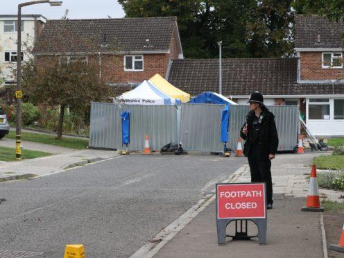 The home of former Russian spy Sergei Skripal in Salisbury, Wiltshire (Jonathan Brady/PA)