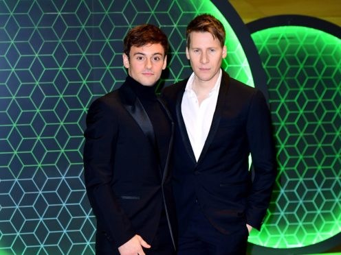Tom Daley and Dustin Lance Black (PA)