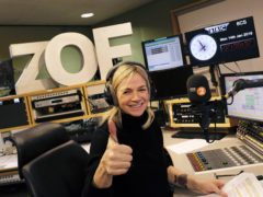 Zoe Ball on her first morning hosting the Radio 2 Breakfast Show (BBC/PA)
