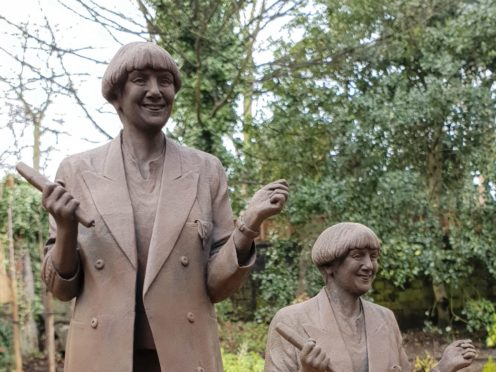 Graham Ibbeson has produced models in preparation for the full statue (Bury Council/PA)