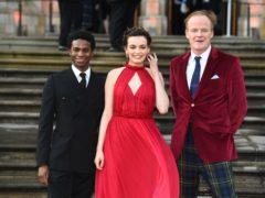 Sex Education stars Kedar Williams-Stirling, Emma Mackey and Alistair Petrie (Kirsty O'Connor/PA)