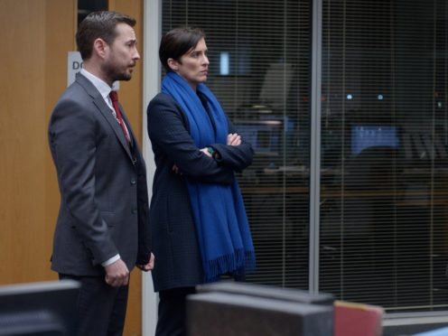 Anna Maxwell Martin, Martin Compston and Vicky McClure in Line Of Duty (BBC/PA)