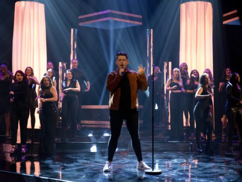 Michael Rice performs on the Graham Norton Show (Isabel Infantes/PA)