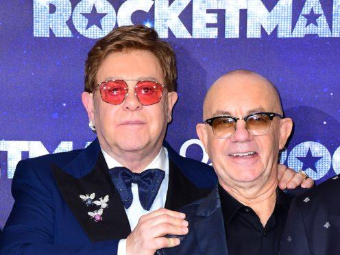 Elton John and Bernie Taupin attending the Rocketman UK Premiere (Ian West/PA)