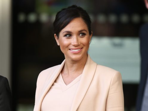 The Duchess of Sussex at the National Theatre (Yui Mok/PA)
