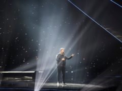 The UK's Michael Rice has placed last at the Eurovision Song Contest (Andres Putting)