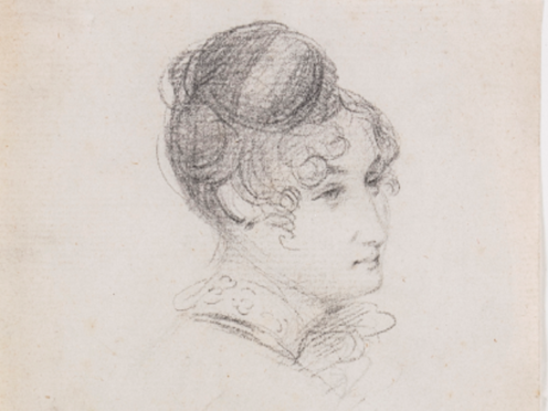 Sketch believed to depict Maria Constable (Chiswick Auctions)