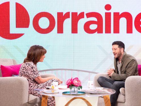 Matt Cardle on Lorraine (ITV/REX)