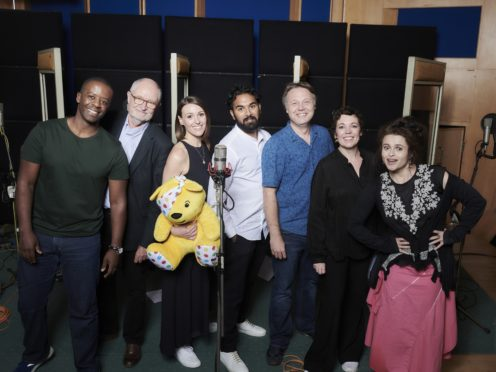 Stars involved in Children In Need: Got It Covered at Abbey Road Studios (BBC/PA)