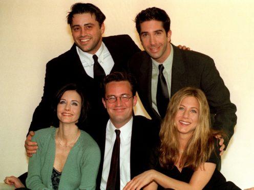 Stars of the American sitcom Friends (Neil Munns/PA)