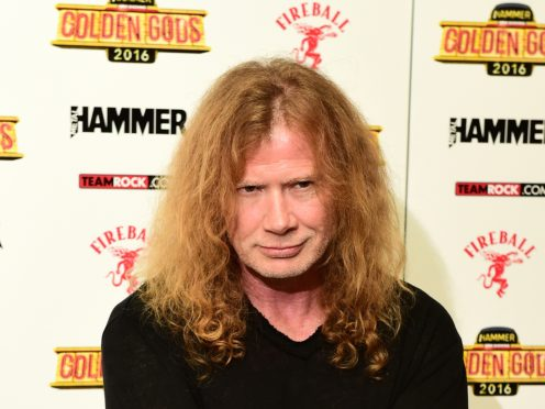 Megadeth's Dave Mustaine has revealed he is being treated for throat cancer (Ian West/PA)
