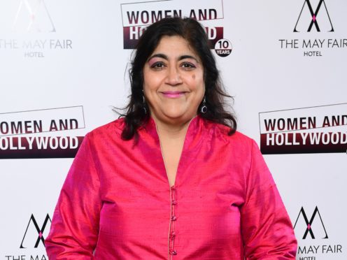 Gurinder Chadha said she often played music to keep the Beecham House cast and crew upbeat (Ian West/PA)