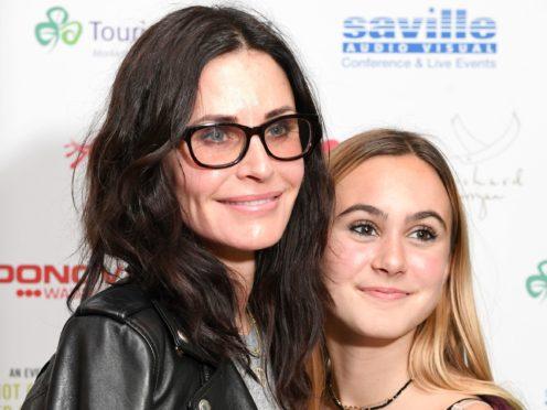 Courteney Cox and daughter Coco Arquette (Victoria Jones/PA)