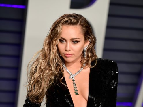 Miley Cyrus has addressed footage showing a fan grabbing her during an appearance in Spain (Ian West/PA)