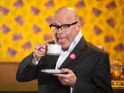 Harry Hill made his own interesting creation in the Bake Off tent (David Parry/PA)