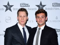 Tom Daley (right) and Dustin Lance Black (Ian West/PA)