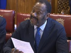 Sir Lenny Henry gave evidence to the House of Lords communications committee regarding diversity in the media (House of Commons/PA)