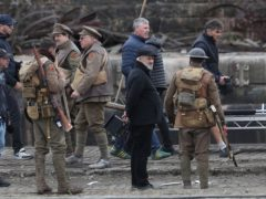 Director Sam Mendes on the set of his new film 1917 at Govan Docks in Glasgow (Andrew Milligan/PA)