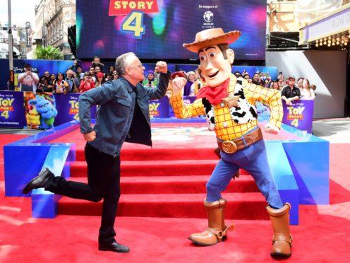 Tom Hanks and Woody (Ian West/PA)