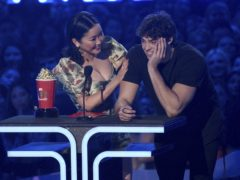 Noah Centineo thanked co-star Lana Condor for her 'lips' as they won best kiss at the MTV Movie & TV Awards (Chris Pizzello/Invision/AP)