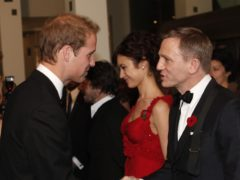 The Duke of Cambridge and Daniel Craig at the world premiere of Quantum Of Solace (PA)