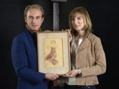 Fake Or Fortune presenter Fiona Bruce and art historian Philip Mould (Rolf Marriott/BBC/PA)