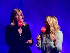 Holly Willoughby alongside Heart FM presenter Emma Bunton (Ian West/PA)