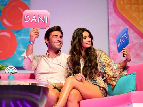 Jack Fincham (left) and Dani Dyer (right) attending the Love Island Live event at the ExCel, London.
