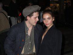 Brooklyn Beckham and Hana Cross (Isabel Infantes/PA)